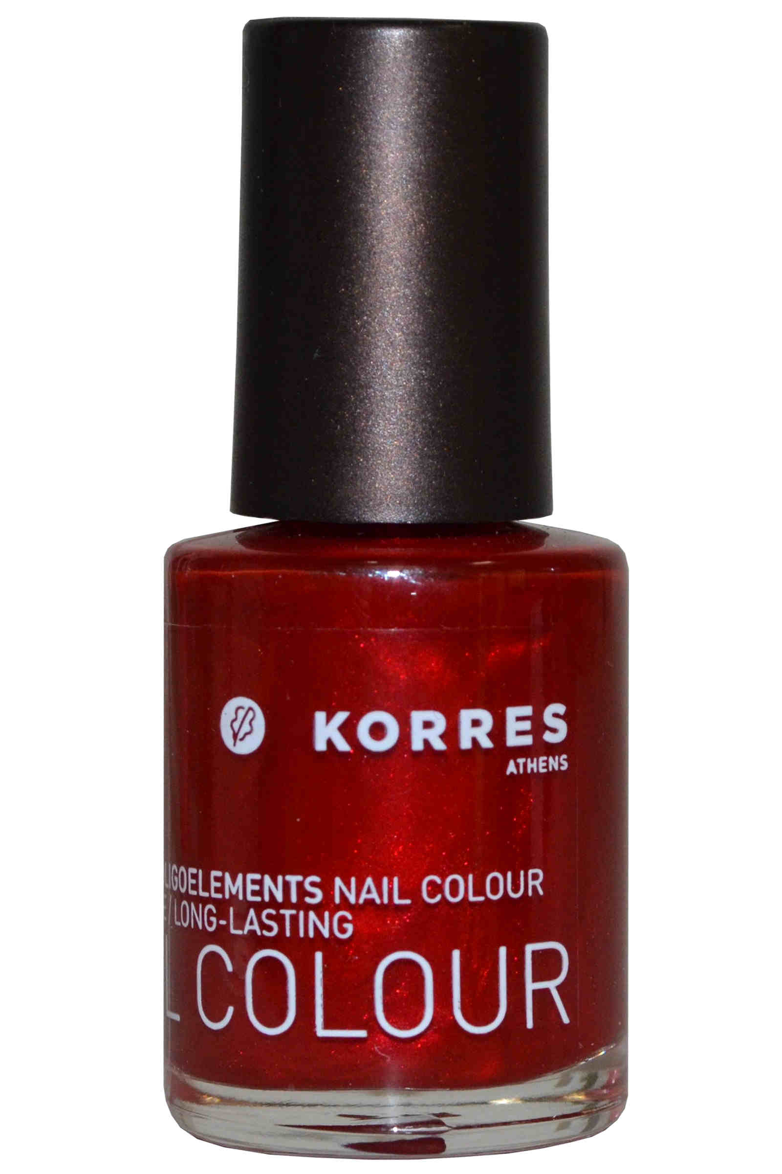 Korres Nail Color High Shine Long Lasting 10ml Metallic Red (#56) [Free From 7]
