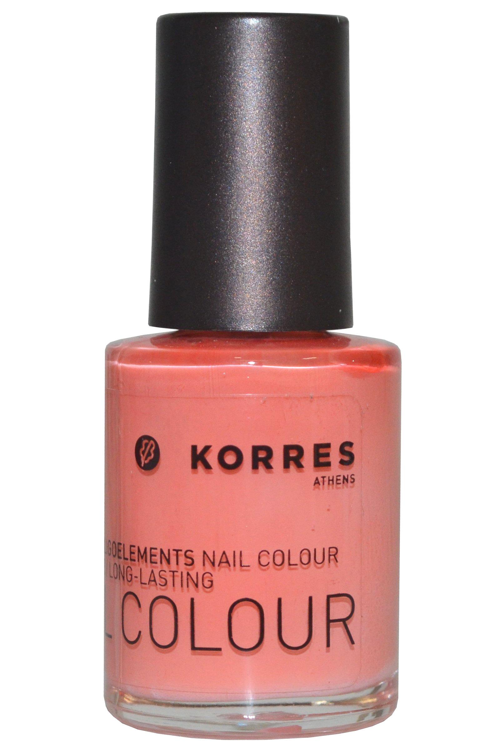 Korres Nail Color High Shine Long Lasting 10ml Mango Sorbet (#42) [Free From 7]