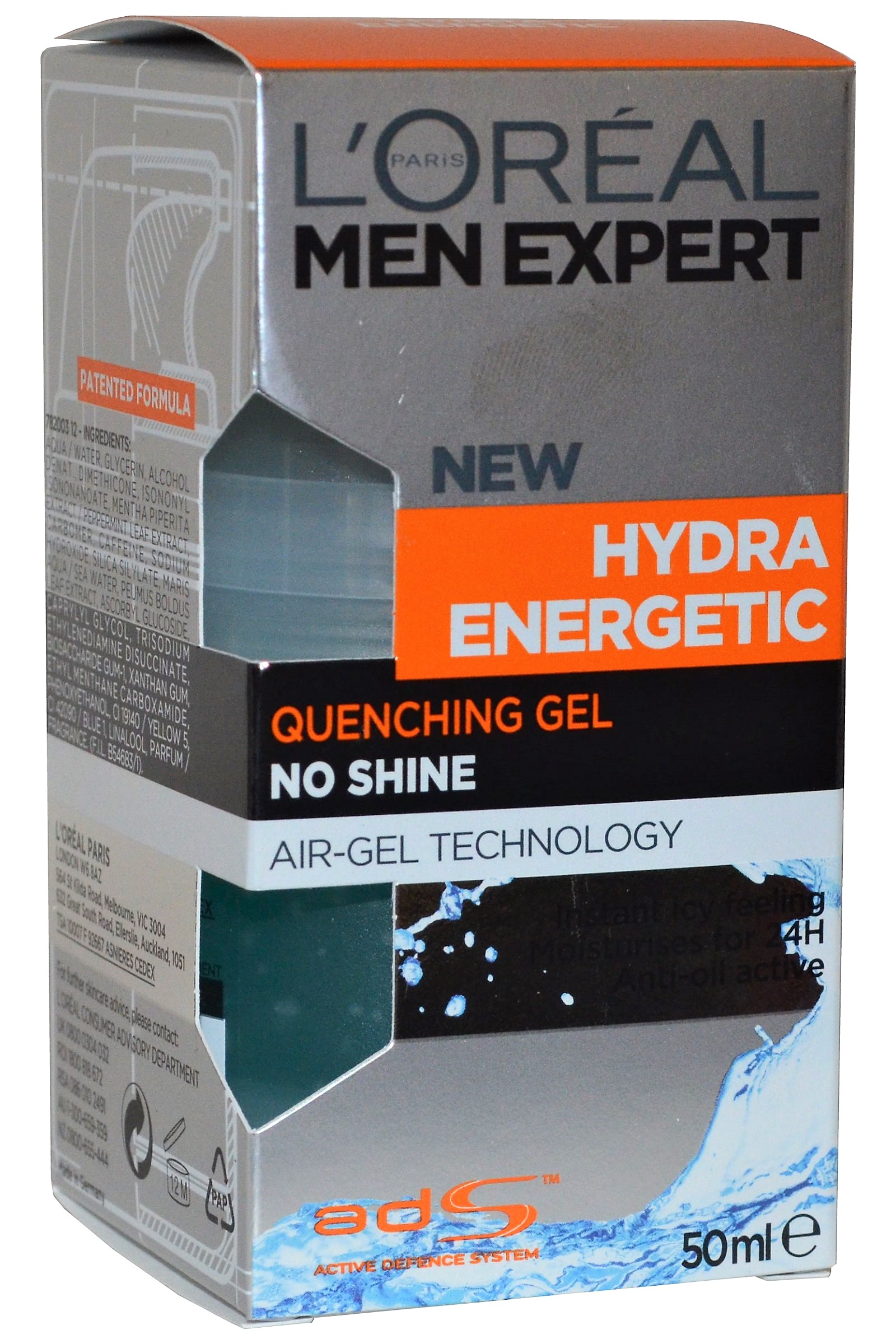 L Oreal Men Expert by L'Oreal Hydra Energetic Quenching Gel 50ml