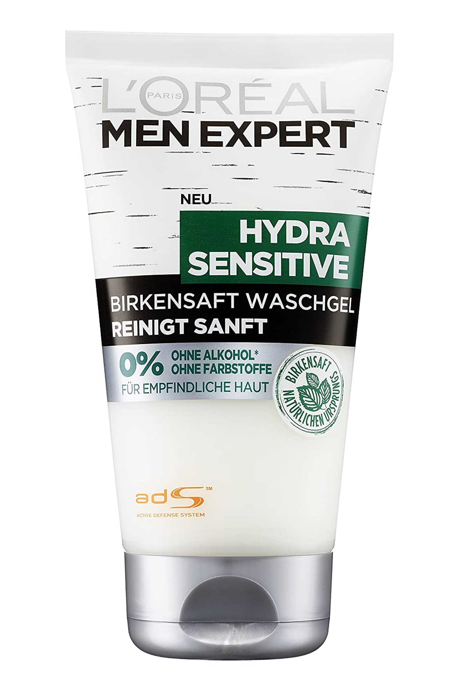 L Oreal Men Expert by LOreal Face Wash Gel Hydra Sentive 150ml No Alcohol made with BirchSap